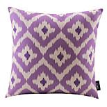 Purple Rhombus Cotton/Linen Decorative Pillow Cover