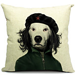Cartoon Cool Dog Cotton/Linen Decorative Pillow Cover
