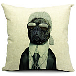 Cartoon Dog Cotton/Linen Decorative Pillow Cover