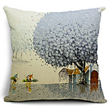 Go Home in Winter Cotton/Linen Decorative Pillow Cover