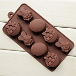 The Easter Bunny Basket Of Eggs Shape Cake Ice Jelly Chocolate Molds,Silicone 20.8×10.5×2.8 CM(8.2×4.1×1.1 INCH)