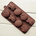 a cesta do coelhinho da páscoa de moldes de ovos forma de bolo de gelo geléia de chocolate, silicone 20,8 × 10,5 × 2,8 cm (8,2 × 4,1 × 1,1 polegadas)