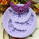 Lentils Shaped Flower Baking Fondant Cake Chocolate Candy Mold,L7.3cm*W7.3cm*H1cm