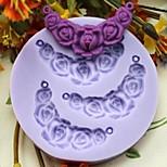 lenticchie a forma di fiore di cottura della torta fondente al cioccolato muffa della caramella, l7.3cm * w7.3cm * h1cm
