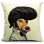 Cartoon Handsome Dog Cotton/Linen Decorative Pillow Cover