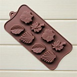 8 Hole Maple Coconut Palm Leaves Shape Cake Ice Jelly Chocolate Molds