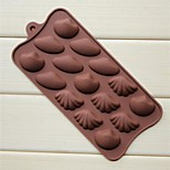 15 Hole Shell Shape Cake Soap Ice Jelly Chocolate Molds,Silicone 22×10.2×1.5 CM(8.7×4.0×0.6 INCH)