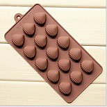 5 Hole Xian Bei Burn Shape Cake Ice Jelly Chocolate Molds,Silicone 21.5×10.5×1.8 CM(8.5×4.1×0.7 INCH)