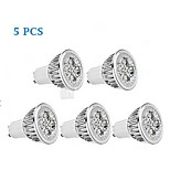 5 pcs GU10 5 W 1 350-400 LM Warm White PAR Dimmable Spot Lights/Par Lights AC 220-240/AC 110-130 V