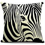 Cotton/Linen Pillow Cover , Animal Print Country