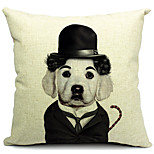 Mr Dog Cotton/Linen Decorative Pillow Cover