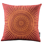 Lipstick Red Sunshine Cotton/Linen Decorative Pillow Cover