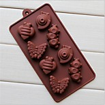 8 Hole Snail Caterpillar Shape Cake Ice Jelly Chocolate Molds,Silicone 19.2×10.6×2 CM(7.6×4.2×0.8 INCH)