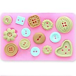 Button Fondant Cake Chocolate Resin Clay Candy Silicone Mold,L10m*W7.5cm*H1.3cm SM-471