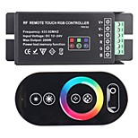 4A 3-Channel Smart RF Remote Touch RGB Controller for RGB LED Strip Light (433.92MHz 288W DC 12~24V)