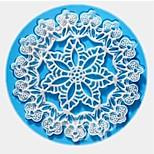 Lace Fondant Cake Chocolate Resin Clay Candy Silicone Mold, L12.6cm*W12.6cm*H0.4cm(Color radom)