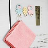 3 PCS Humanoid shape plastic tape seamless hook