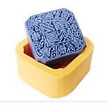 Auspiciousness Moon Cake Fondant Cake Chocolate Resin Candy Silicone Mold,L7cm*W7cm*H3.2cm