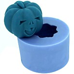 Halloween Pumpkin Fondant Cake Chocolate Candle Silicone Mold,L4.2cm*W4.2cm*H3.4cm