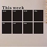 Wall Stickers Wall Decals, Week Blackboard Chalkboard PVC Wall Stickers