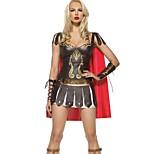 Sexy Rome Fighters Brown Terylene Halloween Costume