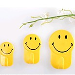 3 PCS Smile Without Mark Strong Towel Hook(Random Color)