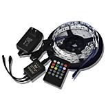 5m 300x5050 cms bandes musique de lumière bandes de lumière LED + musique 20key télécommande + 2a puissance rgb flexible (AC110-240V)