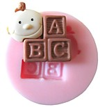 Baby ABC Baking Fondant Cake Chocolate Candy Mold,L3.7cm*W3.7cm*H1cm