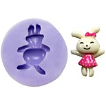 Rabbit Fondant Cake Chocolate Resin Clay Candy Silicone Mold,L3.1cm*W3cm*H1cm
