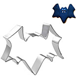 Halloween Theme Bat Shape Cookie Cutter, L 7.5cm x W 7cm x H 2.5cm, Stainless Steel