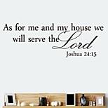 zooyoo® palavra estilo removível de adesivos de parede adesivos de parede de venda quente para a decoração da casa