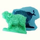 Zodiac Sheep Fondant Cake Chocolate Resin Clay Candy Silicone Mold , L7cm*W6.2cm*H2.6cm