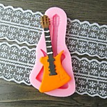 Guitar Fondant Cake Chocolate Resin Clay Candy Silicone Mold,L10.6m*W5.3cm*H0.9cm
