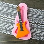 fondant de guitare gâteau au chocolat argile de résine moule bonbons de silicone, l10.6m * w5.3cm * h0.9cm