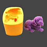 Dog Animal Fondant Cake Chocolate Resin Clay Candy Silicone Mold,L5.5cm*W4cm*H3.6cm