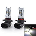 High Power 9005/H4/H7 30W 2000LM Cool White Light 6-Cree LED Car Fog / Head Light (12V / 2pcs)