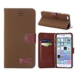 Retro Style Magnetic Flip Brown TPU+PU Leather Case with Card Slot for iPhone 6 Plus(Assorted Colors)