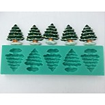 Christmas Tree Fondant Cake Chocolate Silicone Mold Cake Decoration Tools,L14.5cm*W4.3cm*H1cm