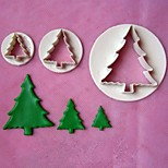 3pcs Christmas Tree Stamper Fondant Cake Models