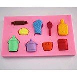 Gloves Pot Spoon Fondant Cake Chocolate Silicone Mold Cake Decoration Tools,L6.9cm*W6.9cm*H1cm