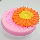 Chrysanthemum Flower Fondant Cake Chocolate Silicone Mold Cake Decoration Tools,L6cm*W6cm*H0.8cm