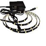 JIAWEN® Waterproof 1M 5W 60x5050SMD White/Warm White LED Flexible Strip Light + 1A Power (AC 110-240V)