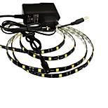 jiawen® waterdichte 1m 5W 60x5050smd wit / warm wit led flexibele strip licht + 1a vermogen (AC 110-240V)