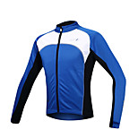 SANTIC Bike/Cycling Jacket / Jersey / Tops Men's Long Sleeve Front Zipper / Windproof / Fleece Lining / Thermal / Warm Spandex / Fleece
