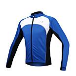SANTIC Bike/Cycling Jacket / Jersey / Tops Men's Long Sleeve Front Zipper / Windproof / Fleece Lining / Thermal / Warm Spandex / Fleece