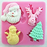 Christmas Claus Tree Deer Snowman Fondant Cake Tools