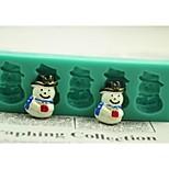 natale pupazzo di neve regalo di strumenti di decorazione torta al cioccolato fondente della torta del silicone della muffa, L12 * W4 * h1.3cm