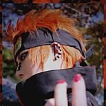Pelucas de Cosplay Naruto Cosplay Naranja Corto Animé Pelucas de Cosplay 35 CM Fibra resistente al calor Hombre