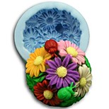 Christmas Sunflower Ball Fondant Cake Chocolate Silicone Mold Cake Decoration Tools,L8.3cm*W8.3cm*H4.2cm