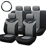 Tirol Universal Car Seat Covers 10 Pieces/Set Gray Front Rear Cover For Crossovers SUV Sedans